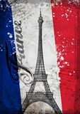 Hand drawn Eiffel Tower. Paris, vector Stock Images