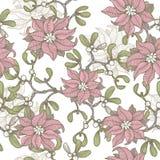 Hand drawn elegance Christmas seamless pattern Royalty Free Stock Photography