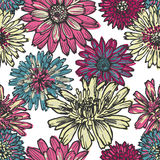 Hand drawn  elegance floral seamless pattern Stock Photo