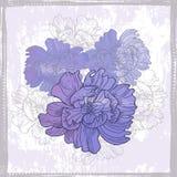 Hand drawn elegance  floral vignette Stock Photo