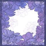 Hand drawn elegance  floral vignette Stock Image