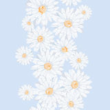 Hand drawn elegance fresh floral seamless banner Stock Photography
