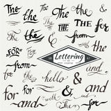 Hand drawn elegant ampersands and catchwords Royalty Free Stock Photo