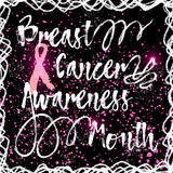Hand drawn elegant Breast Cancer Awareness Month sign. Royalty Free Stock Photography