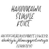 Hand drawn elegant calligraphy font. Modern brush lettering. Grunge style alphabet. Vector illustration. Stock Photos