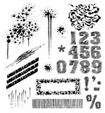 Hand-drawn elements. Set of hand-drawn graphic elements (*.EPS included Stock Image