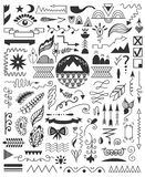 Hand drawn elements. Stock Photography