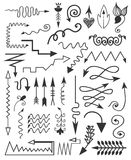 Hand drawn elements. Royalty Free Stock Photography
