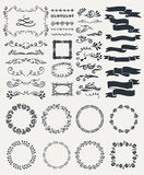 Hand-drawn elements Royalty Free Stock Photo