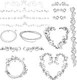 Hand drawn elements Royalty Free Stock Photo