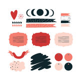 Hand drawn elements for your design Label decoration tag Royalty Free Stock Image