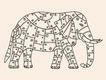 Hand Drawn Elephant Royalty Free Stock Photo