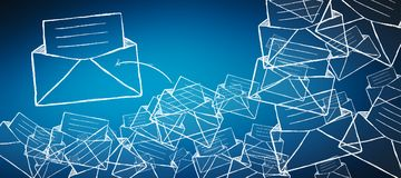 Hand drawn email icon illustration Stock Photography