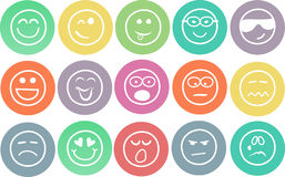 Hand drawn emoticons Royalty Free Stock Images