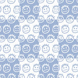 Hand drawn emoticons. Seamless pattern. Stock Photos