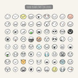 Hand drawn emotion icons Stock Photos