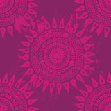 Hand drawn  endless background in indian style Stock Image