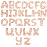 Hand drawn english alphabet Royalty Free Stock Photos