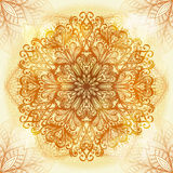 Hand drawn ethnic beige ornament Stock Photo