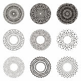Hand drawn ethnic circles. Ink collection of symbols. Stock Photography