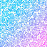 Hand drawn ethnic circles seamless Royalty Free Stock Photography