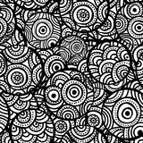 Hand drawn ethnic circles seamless Stock Photography