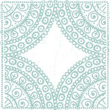 Hand drawn ethnic frame in light blue tones Stock Image