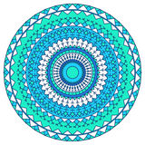 Hand drawn ethnic ornamental round abstract background Stock Images