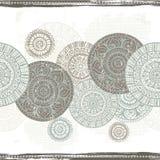 Hand drawn ethnic  shabby seamless border Royalty Free Stock Images