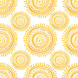 Hand drawn ethnic sun Stock Image