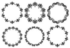 Hand drawn ethnics circles. For frame, logo element and other design element Royalty Free Stock Photos