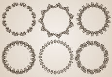 Hand drawn ethnics circles Royalty Free Stock Photography