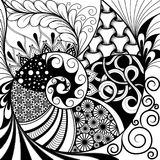 Hand-drawn ethno zentangle pattern, tribal background. It can be used for wallpaper, web page, bags, print and others. African sty. Le. Vector stock illustration