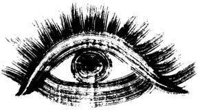 Hand drawn eye. brush stroke illustration. Stock Photo