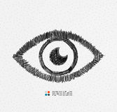 Hand drawn eye Royalty Free Stock Photo