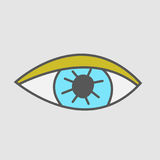 Hand drawn eye. Stickers patch. Royalty Free Stock Photography