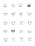 Hand drawn faces set for comics design. Vector illustration Royalty Free Stock Photography