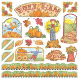 Hand-Drawn Fall Fun Illustrations Royalty Free Stock Photography