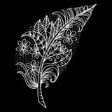 Hand drawn feather royalty free illustration