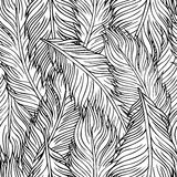 Hand-drawn feathers Stock Photos