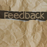 Hand drawn feedback  words Stock Photos