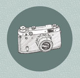Hand drawn film camera Stock Images