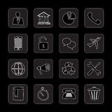 Hand drawn flat icons Royalty Free Stock Photo