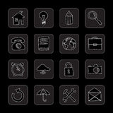 Hand drawn flat icons Stock Image