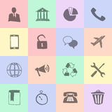 Hand drawn flat icons Royalty Free Stock Images