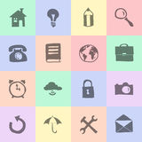 Hand drawn flat icons Stock Photography