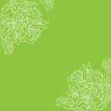 Hand-drawn floral σχέδιο Στοκ φωτογραφίες με δικαίωμα ελεύθερης χρήσης