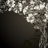 Hand drawn floral Stock Images