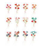 Hand drawn floral autumn collection Royalty Free Stock Photos