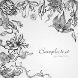 Hand drawn floral background Stock Photography